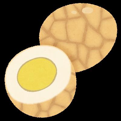 茶葉蛋のイラスト