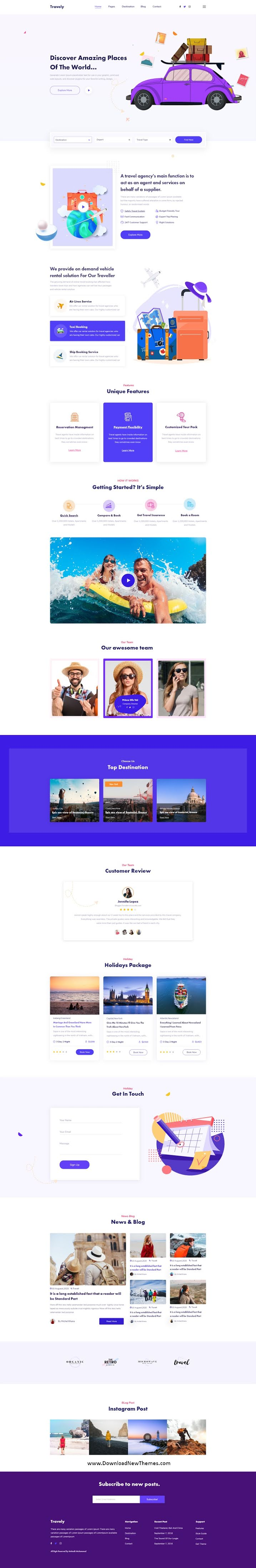 Travel Agency Xd Template