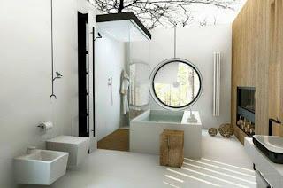 تصميمات حمامات مودرن بشكل فاشر افضل التصاميم