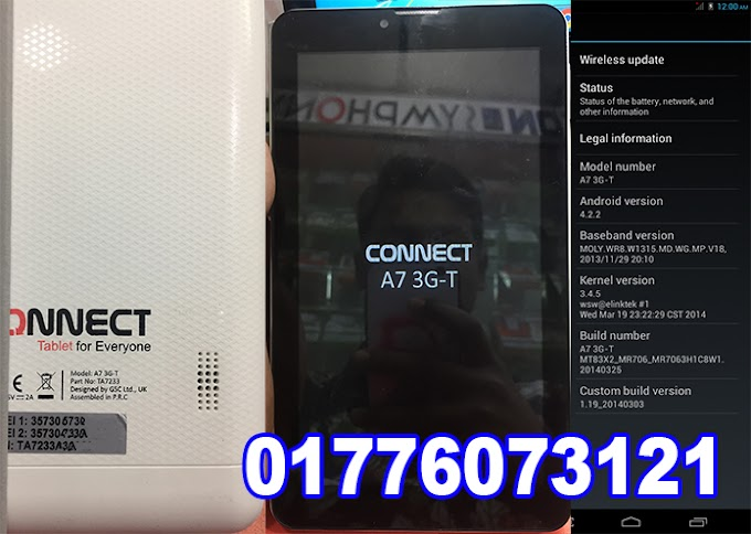 Connect A7 3G-T Flash File   MT6582   Android 4.4.2