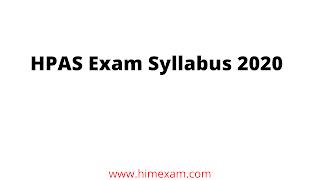 HPAS Exam Syllabus 2020