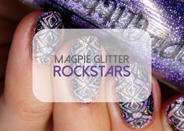 Rockstar gel nails Magpie Glitter