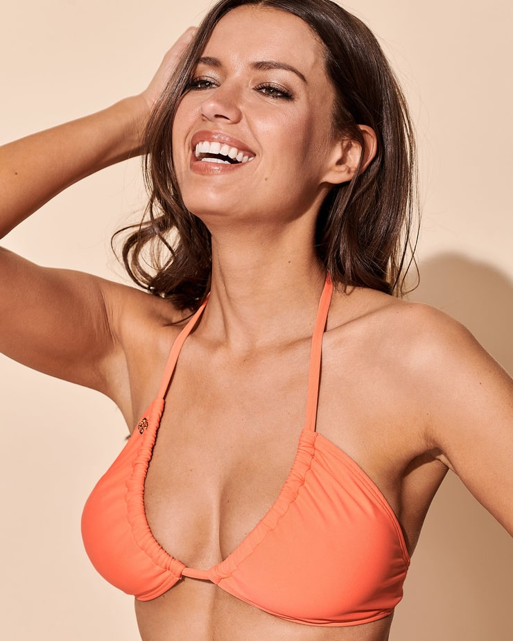 Michea Crawford Awesome Hot Photoshoot in Orange Bikini