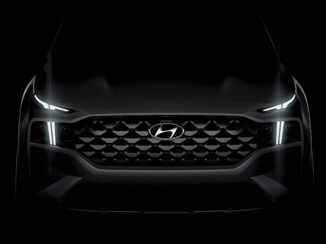 Hyundai New Santa Fe 2021: imagem teaser divulgada