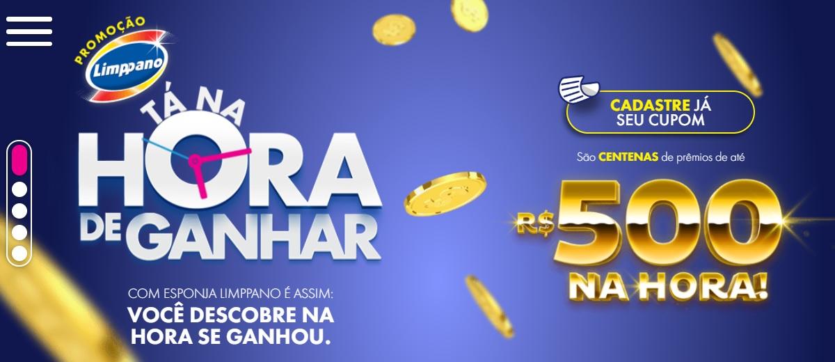 Promoção Esponjas Limppano Tá na Hora de Ganhar