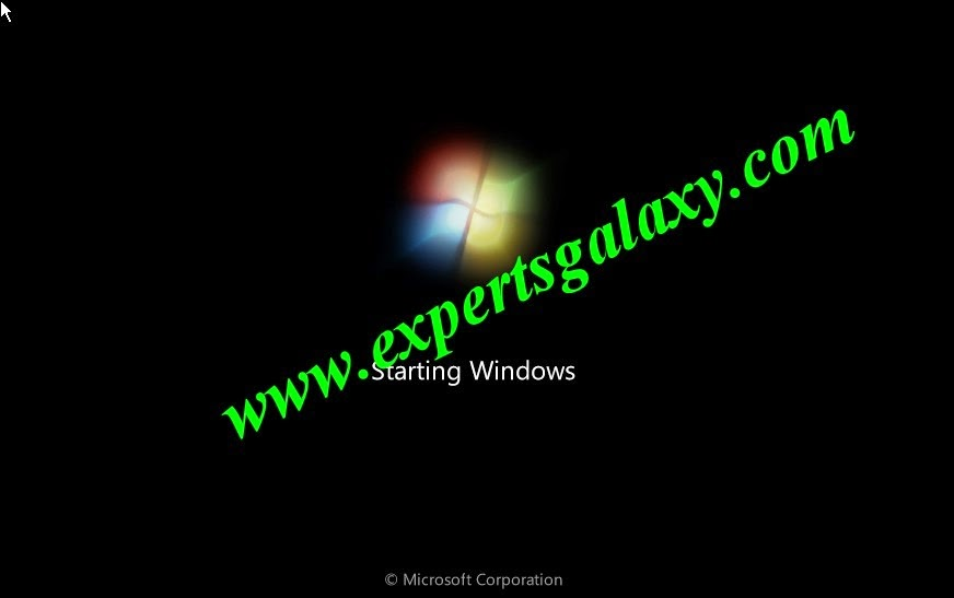 Windows 7 Starting Screen