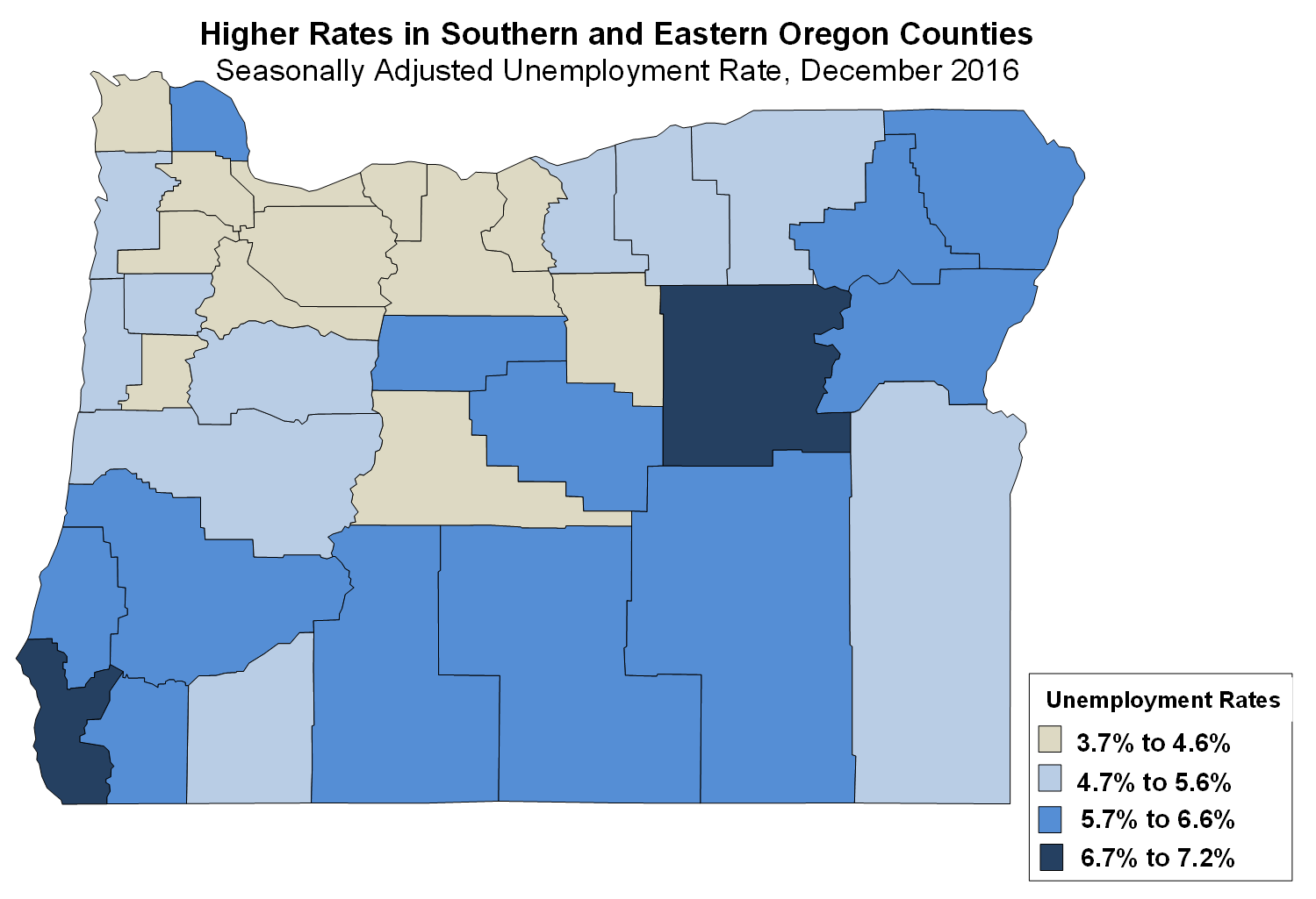 Oregon Workforce And Economic Information December Unemployment - Us counties with lowest unemployment rate