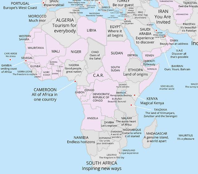 خريطة إفريقيا
