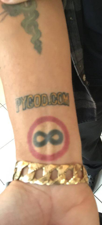 PYGOD.COM tattoo Guerilla Marketing