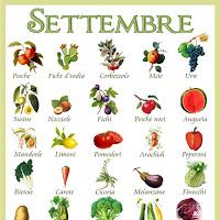 Frutta e verdura che si trovano nel mese di