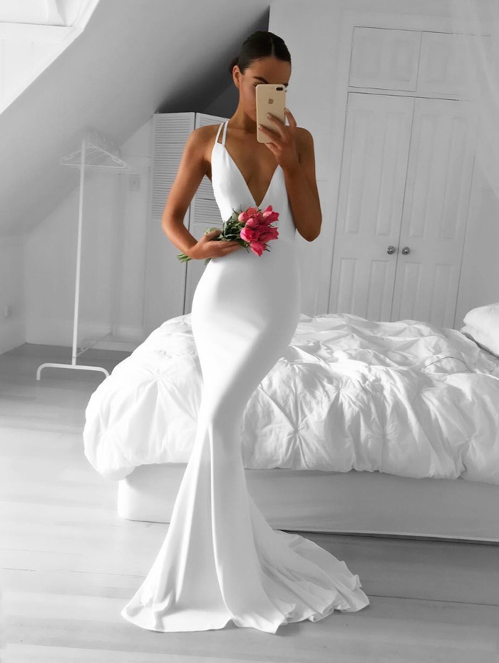 white wedding dress vibes
