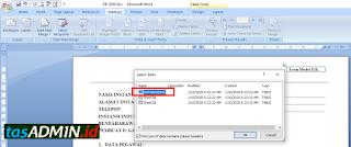sheet database aplikasi form dk