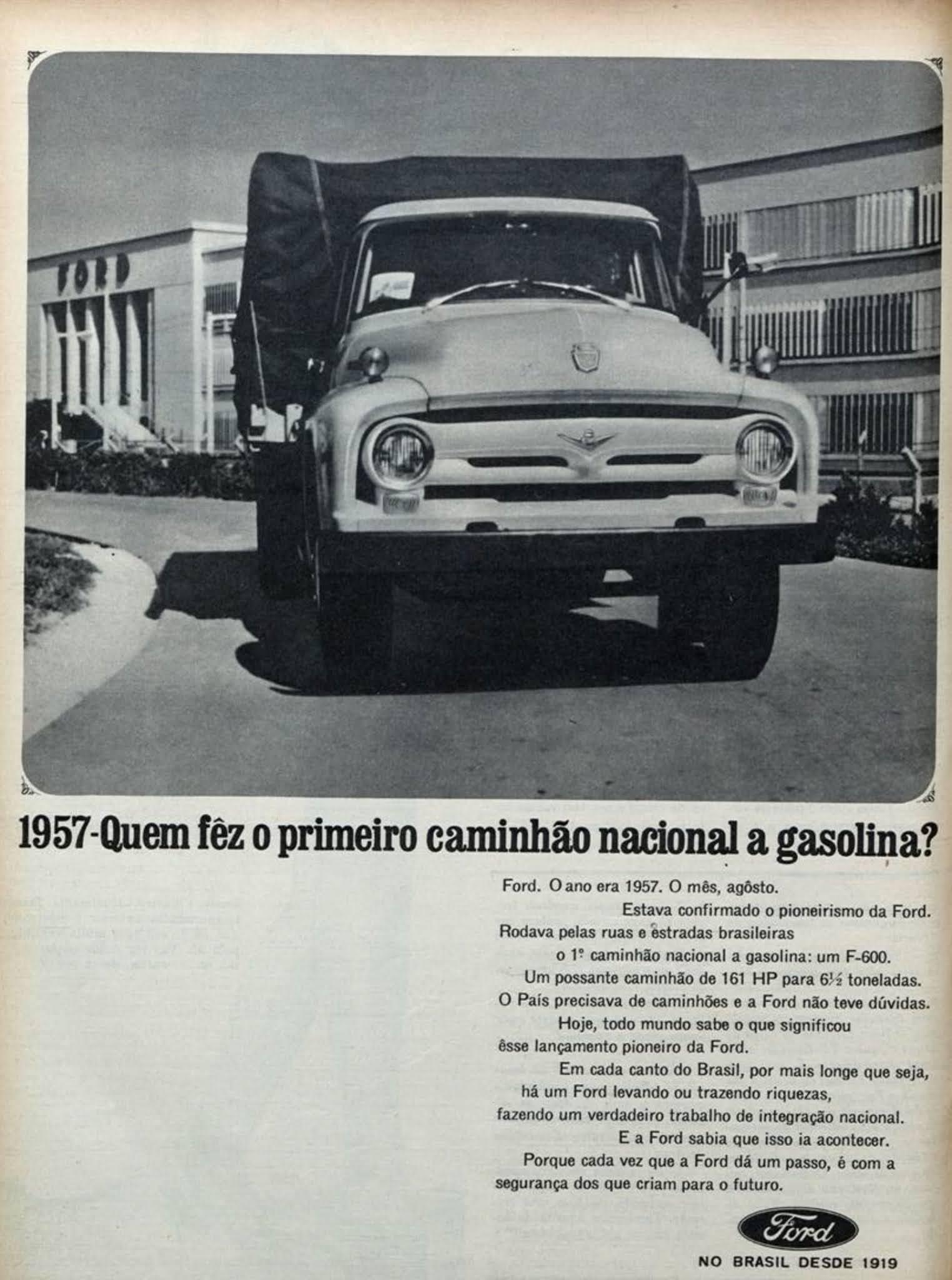 Propaganda antiga da Ford promovendo sua linha de caminhões em 1966