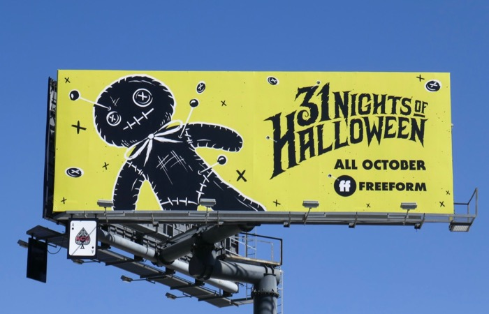 Freeform 31 Nights of Halloween Voodoo Doll billboard