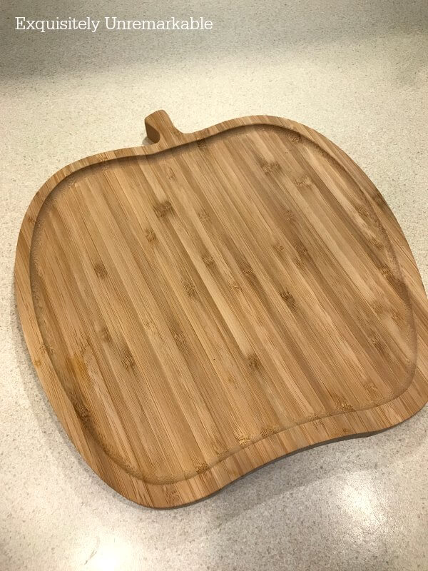 Apple Shaped Cutting Board