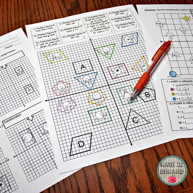 Transformations activity (Capture the dots)
