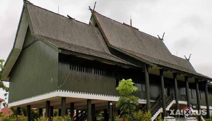 Gambar rumah adat Indonesia - Rumah adat Kalimantan Tengah atau Rumah Betang