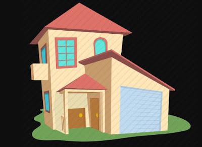 Gambar Rumah Kartun Lucu Garasi Mungil