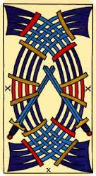 Tarot Marsella: Carta Diez de Espadas
