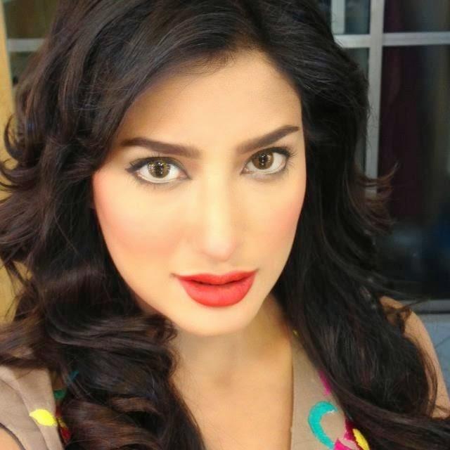 Beautiful Pakistani deep red lipstick