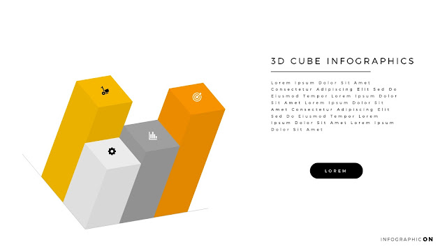 3D CUBE Infographic Elements for PowerPoint Slide 5