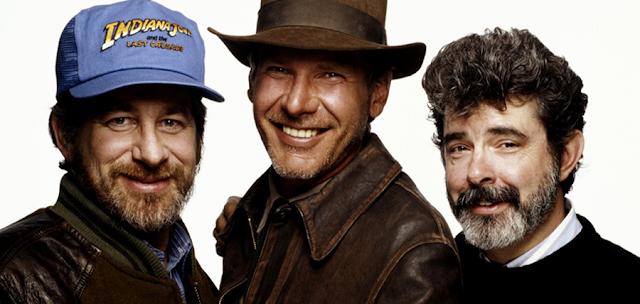 Steven Spielberg, Harrison Ford şi George Lucas creatorul personajului Indiana Jones