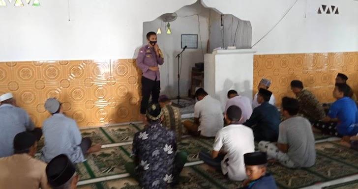 Bhabinkamtibmas Pulau Maccini Baji Imbau Warganya Agar Memakmurkan Masjid