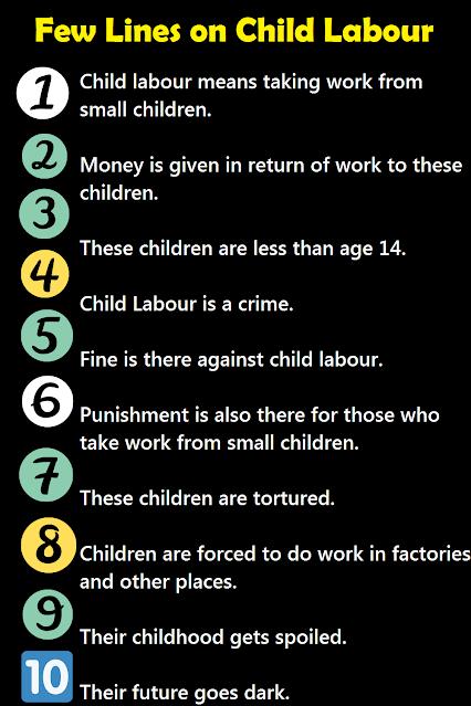 short 10 lines essay on child labour