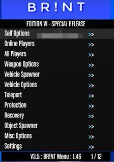 GTA5 Online 1.46 Brint 3.5 Menu Sınırsız Para Hilesi 2019 Güncel