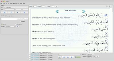 Zekr - Aplikasi Membaca Al Quran dan Terjemah di Linux