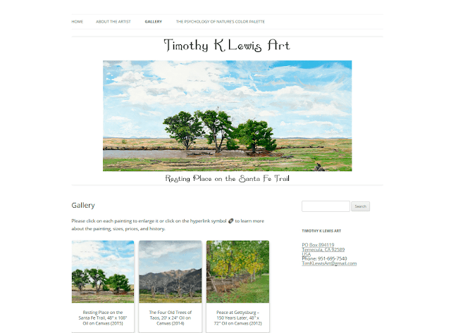 Timothy K Lewis Art Website Design by Julianne of Bratiful Creative Solutions