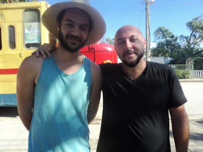 Sergio y Joel  Carozzi en la Cruzada teatral Guantánamo- Baracoa