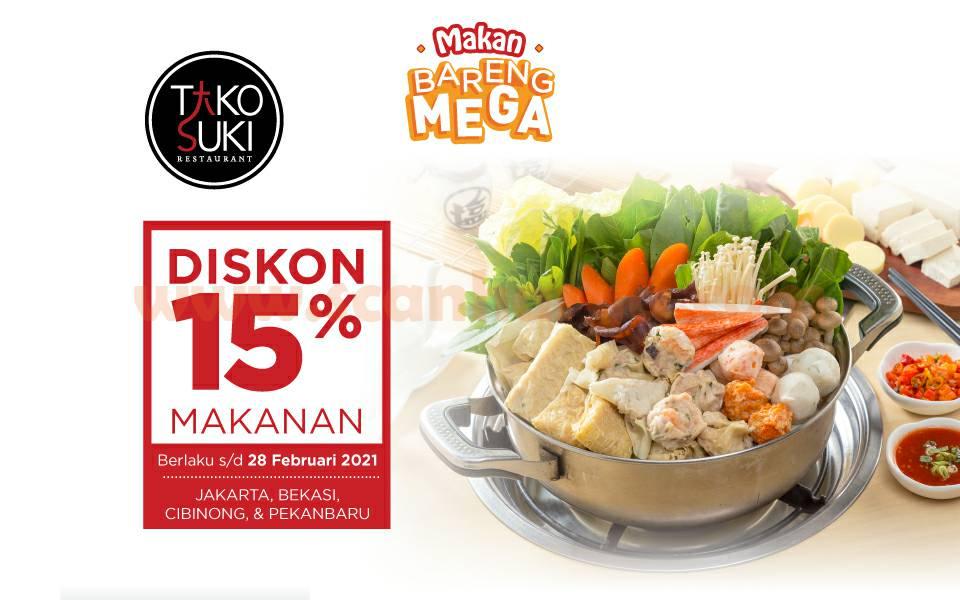 Promo Tako Suki Diskon 15% dengan Kartu Kredit Bank Mega