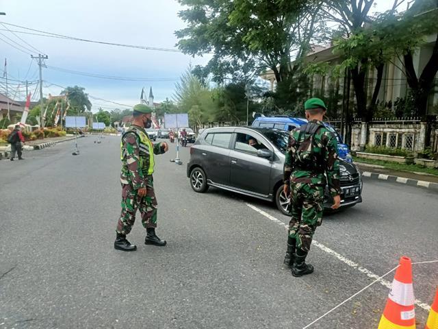 Kodim 0207/Simalungun Melalui Koramil 02/Siantar Timur Laksanakan Ops Penyekatan Level lV
