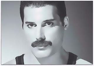 Freddie Mercury (1946-1991) - líder da banda Queen