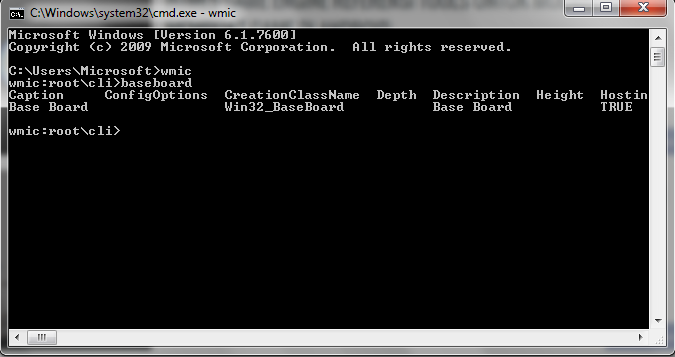 how to find motherboard details in cmd