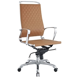 Modern Boardroom Chair with Diamond Stitched Back