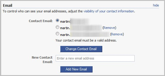 Change Facebook Primary Email