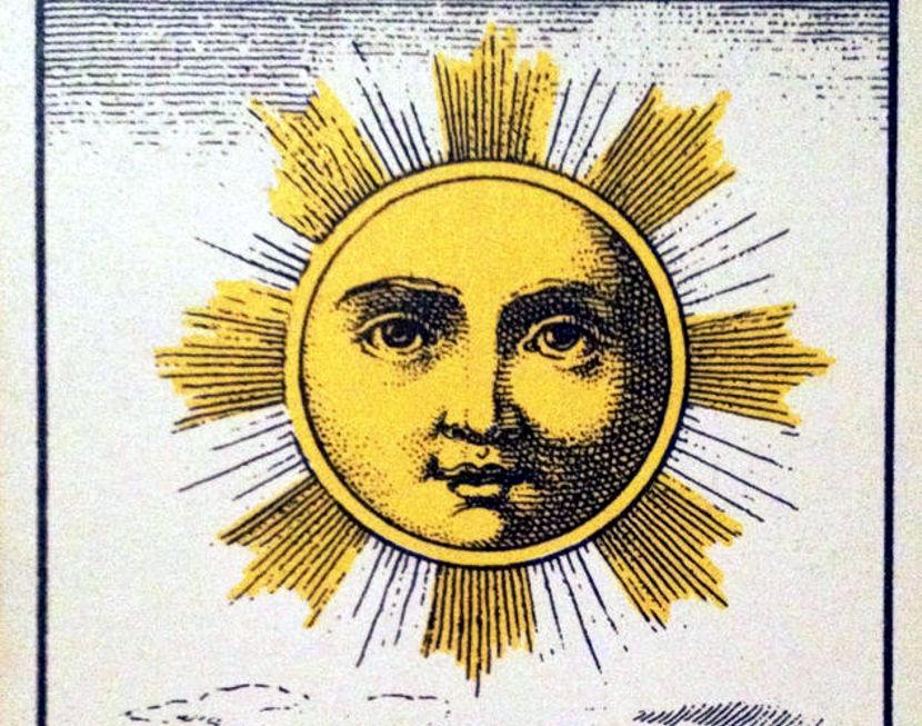 El Sol, de una carta de tarot