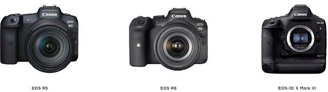 New Canon EOS Firmware: EOS R5, EOS R6 and EOS-1D X Mark III