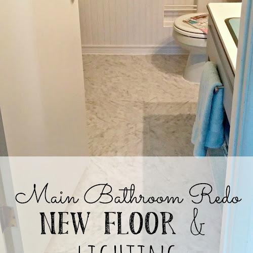 Main Bathroom Redo - New Floor and Lighting