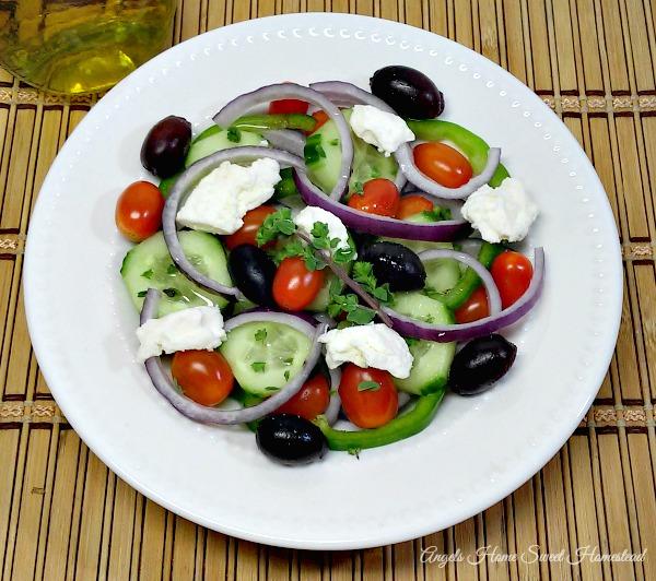 Greek Salad - Home Sweet Homestead #MenuPlan