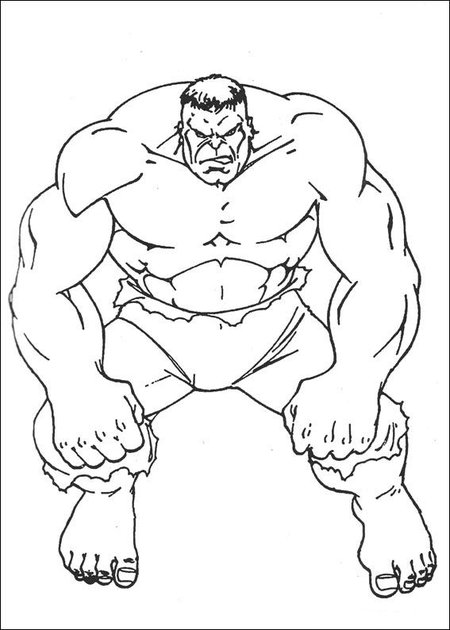 Coloring Pages Of Hulk Hand