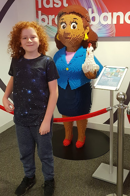 Blackburn Mall #Brickburn Paw Patrol Trail inside Virgin Media with LEGO model of Mayor Goodway