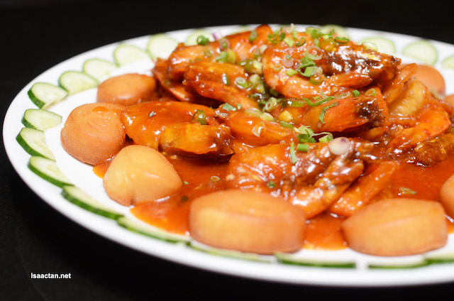 Wok-Fried Prawns With Spicy Sauce
