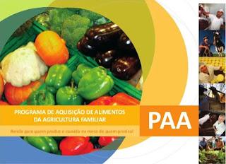 Divulgada nova chamada pública para aquisição de alimentos de agricultores familiares de Cuité e região