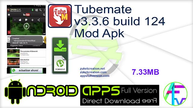 Tubemate v3.3.6 build 124 Mod Apk