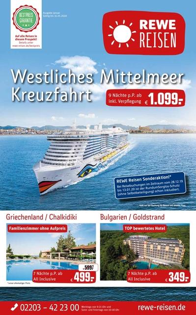Topangebote: Kreuzfahrt im Westlichen Mittelmeer, Griechenland - Chalkidiki, Bulgarien - Goldstrand und vieles mehr