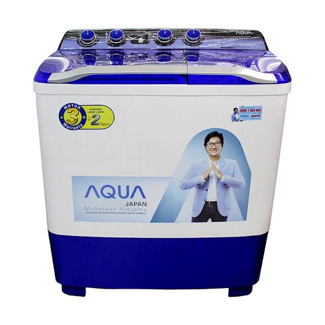 Sanyo mesin cuci 2 tabung 8Kg AQUA series - 880XT