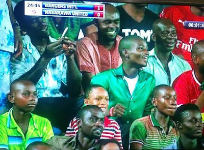 See this photo of a man smoking weed during live match in Nigerian league (photo)